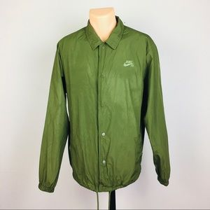 Nike Button Up Spring Jacket with Pockets Men's L